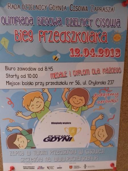 Olimipada Biegowa Dzielnicy Cisowa