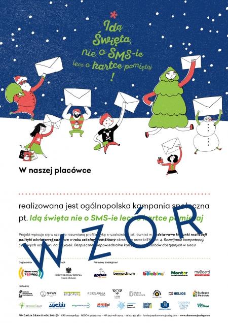 Kampania Idą Święta, nie o sms-ie lecz o kartce pamiętaj!