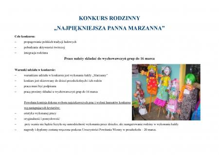 Konkurs na Marzannę